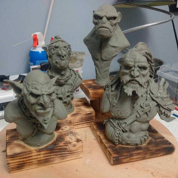 Bust sculptures
